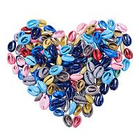 NBEADS 200PCS Mixed Assorted Color Dyed Cowrie Shell Beads Sea Shell Seashell Charms and Beads with Holes