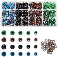 PandaHall Elite 200pcs Plastic Safety Eyes with Washers 5 Size 10~18mm 4 Color Craft Doll Eyes for Doll Animal Crafts, Stuffed Crochet Animals, Puppet, Doll Making