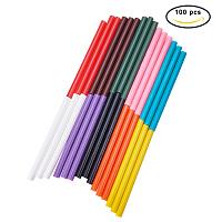 PandaHall Elite 100PCS 10-Color Hot Glue Stick 7 x 100mm Hot Melt Adhesive Glue Gun Sticks Mini Glue Sticks for DIY Art Craft