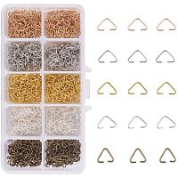 PandaHall 1600pcs/box 5 Colors Triangle Open Jump Rings, Iron Pinch Bails Pendant Accessories Bulk for Earring Pendant Bracelet Jewelry Making(320pcs/color)