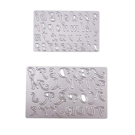 NBEADS 2PCS Dies Cut Alphabet Letter Cutting Dies Drawing Painting Stencils Scale Templates Scrapbooking, Photo Album Craft Projects