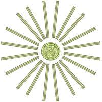 Craspire Glue Gun Sealing Wax Sticks, for Glue Gun Wax Seal Stamp, Yellow Green, 135x11mm