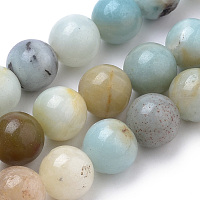 Arricraft Natural Amazonite Beads Strands, Round, 8mm, Hole: 1mm, about 50pcs/strand, 15.7 inches