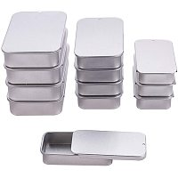 BENECREAT 12 Packs 3 Mixed Size Rectangle Tinplated Metal Cans with Slide Cover Lids for Gifts Party Favors and Other Accessories