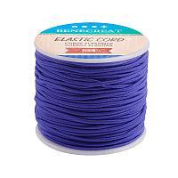 BENECREAT 2mm 55 Yards Elastic Cord Beading Stretch Thread Fabric Crafting Cord for Jewelry Craft Making (Indigo)