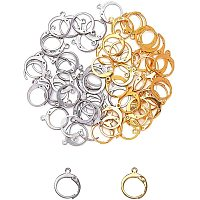 Unicraftale 304 Stainless Steel Leverback Earring Findings, with Loop, Bead Container, Golden & Stainless Steel Color, 6.8x5.2x1.1cm, 60pcs/box