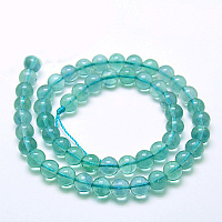 Arricraft Natural Blue Fluorite Beads Strands, Grade A, Round, 8mm, Hole: 1mm, about 48pcs/strand, 15.7 inches
