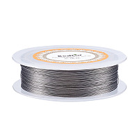 Unicraftale Steel Wire, Silver, 0.3mm; 100m/roll