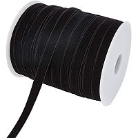 """BENECREAT 50 Yard 3/8"""" Velvet Ribbon for Gift Wrapping, Hair Bow Clip Making and Other Crafts Work, Black"""