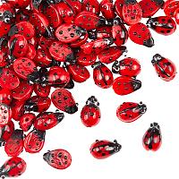 Olycraft Handmade Lampwork Beads Strands, Ladybug, Red, 9~10x12~14x5~6mm, 20pcs/strands, 4strands/box