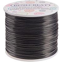 BENECREAT 12 17 18 Gauge Aluminum Wire (18 Gauge,492 FT) Anodized Jewelry Craft Making Beading Floral Colored Aluminum Craft Wire - Black