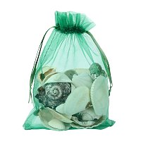 ARRICRAFT 100 PCS 5x7 inch Green Organza Drawstring Bags Party Wedding Favor Gift Bags