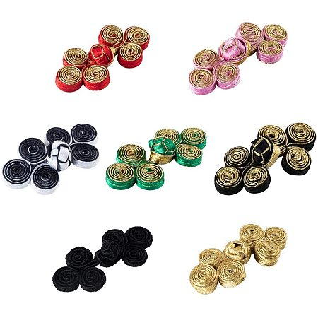 NBEADS 20 Pairs 10 Colors Chinese Closure Buttons, Knot Frog Buttons Closure Sewing Buttons Fastener for DIY Sewing Coats Cheongsam Cloak Sweater