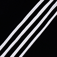 Gorgecraft Polyester Cords, White, 20~25mm; 28.5~30m/roll