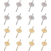 NBEADS 100 Pcs 2 Colors One Step Nail Hangers, Iron Nail Hanger Photo Picture Frame Hanging Hooks on Wooden Drywall for Clock Mirror Jewellery Hanging