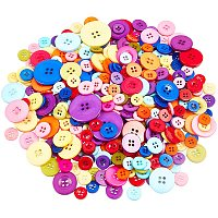NBEADS 200g Buttons, Sewing Buttons 4 Hole Resin Buttons for Scrapbooking DIY Project and Crafting Decoration