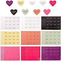 NBEADS 240 Pcs 10 Colors Heart Paper Sticker, Self Adhesive Love Sealing Label Stickers for Gift Packing and Decoration, 28x32mm