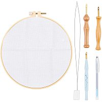 NBEADS 1 Set Punch Needle Embroidery Kits, Embroidery Stitching Punch Needle Cross Stitch Embroidered Frame for DIY Embroidery