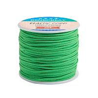 BENECREAT 2mm 55 Yards Elastic Cord Beading Stretch Thread Fabric Crafting Cord for Jewelry Craft Making (Limegreen)
