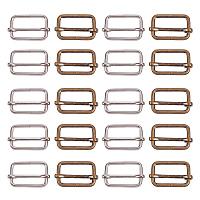 PandaHall Elite 20pcs Metal Slide Buckle Trig ides Slides Webbing Belt Buckles Handbag Bag Strap Adjuster for Fasteners, Strap, Backpack DIY Accessories