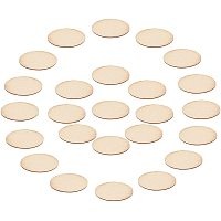 NBEADS 300 Pcs Wood Cutouts, Wooden Blanks Oval Wood Pieces Wood Cabochons Unfinished Wood Tiles for DIY Craft Supplies, 24x12mm