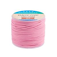 BENECREAT 2mm 55 Yards Elastic Cord Beading Stretch Thread Fabric Crafting Cord for Jewelry Craft Making (Pink)