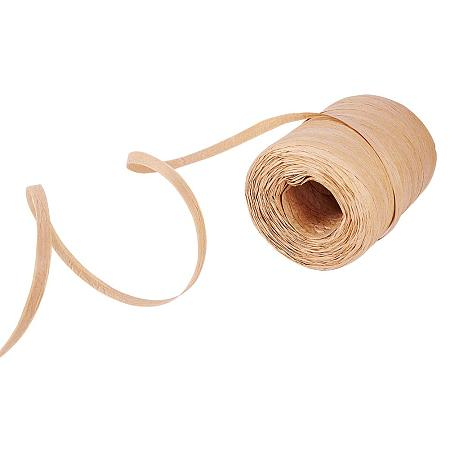 PandaHall Elite 100 Yards Raffia Paper Ribbon Craft Packing Paper Twine for Festival Gifts, DIY Decoration, Bouquets Decoration, Weaving