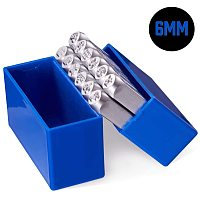 "BENECREAT 12 Packs (6mm 1/4"") Constellations Theme Matte Design Metal Stamp Punches with Tool Case for Jewelry Leather Wood Stamping"