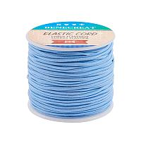 BENECREAT 2mm 55 Yards Elastic Cord Beading Stretch Thread Fabric Crafting Cord for Jewelry Craft Making (LightSkyBlue)
