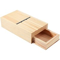 PandaHall Elite Soap Cutter Drawer Box Wooden Soap Beveler Planer Soap Trimming Tool for Handmade Soaps and Candles Trimming DIY Craft Soap Making
