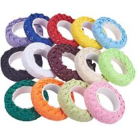 "PandaHall Elite 28 Yards 14 Colors Lace Ribbon Self Adhesive Lace Tape 5/8"" Cotton Lace Ribbon Lace Trim Scrapbook Tape Card Making Supplies, 2yards/Roll"
