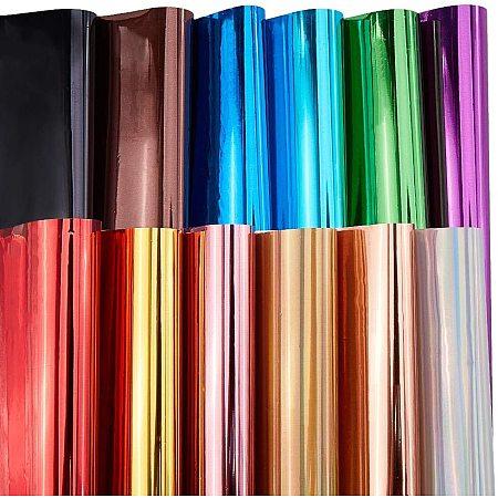 BENECREAT 60PCS A4 Heat Transfer Vinyl Sheets Assorted Colors 28.5x21cm Iron On Vinyl Sheets for T-Shirt Clothes Fabric Decoration DIY Design