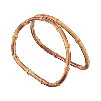 CHGCRAFT Bamboo D Shaped Handles Replacement, for Handmade Bag Handbags Purse Handles, BurlyWood, 10.5~10.9x14.2~14.5x0.85cm, Inner Size: 9x13cm