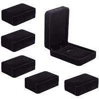 BENECREAT 6 Packs 4x2.8x1.45 Black Velvet Jewelry Box Rectangle Jewelry Box for Necklace Pendant, Wedding Engagement and Gift Favors