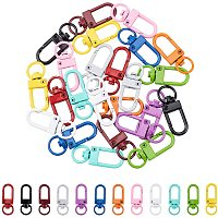 PandaHall Elite 24 Pieces 12 Colors Metal Lobster Claw Clasps Swivel Lanyards Trigger Snap Hooks Strap for Keychain Key Rings DIY Bags Jewelry Findings Crafts