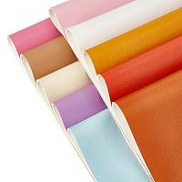 BENECREAT Flat PU Leather Strip, DIY Leather Craft Strips Supplies, Rectangle, Mixed Color, 21x30cm, 10 colors, 1pc/color, 10pcs