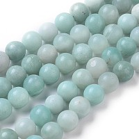 Arricraft Round Natural Amazonite Bead Strands, 8mm, Hole: 1mm, about 46pcs/strand, 16 inches