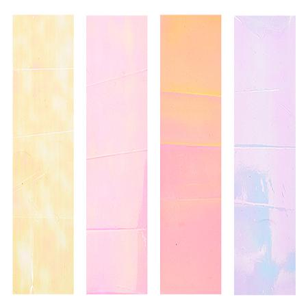 NBEADS Reflective Mirror Design Irregular Broken Glass Foils, DIY Nail Art Decal Stickers, Mixed Color, 40x4cm, 6pcs/color, 4 colors, 24pcs/set
