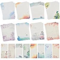 CRASPIRE Chinese Style Letter Paper and Envelopes Set, Ink Painting Classic Vintage Antique Design, Mixed Color, 21.5x11cm; 26x18.5cm, 8 Colors, 1set/color, 8sets/bag