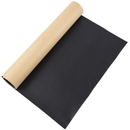 BENECREAT 23.5x12 Self-Adhesive Black Leather Repair Patch Roll for Sofas, Couch, Car Seats, Furniture, Hand Bags and More, 0.8mm Thick