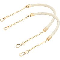 PandaHall Elite 2 Strand Shoulder Strap for Women Handbags, Replacement Straps with Buckles,Chain for Handbag, ReplacementChain Strap, DIY Shoulder Storage & Packaging(Beige,61cm)