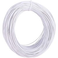 PandaHall Elite 600 Feet Garden Twine Training Wire 1mm Twist Ties White Metallic Twist Cable Cord Wire Ties Reusable Fastening for Party Candy Bags Garbage Bags