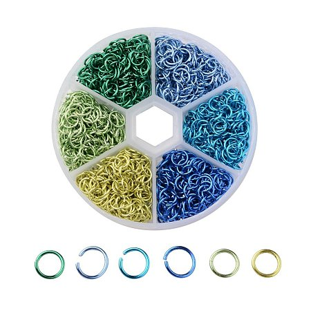 NBEADS Aluminum Open Jump Rings 6mm 6 Colors 1080pcs Box Set Jewelry Findings for DIY Jewelry Making and Craft Ideas