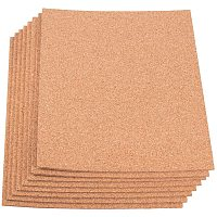 "BENECREAT 8 Pack 8.3"" x 11.8"" Self-Adhesive A4 Size Cork Sheets(2mm Thick) Rectangle Insulation Cork Backing Sheets for Coaster, Wall Decoration, Party and DIY Crafts Supplies"