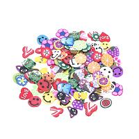 ARRICRAFT 2000pcs Mixed Shapes Handmade Polymer Clay Slices Without Hole for Nail Art Decoration Slime DIY Crafts, Colorful