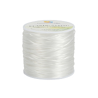 PandaHall Elite Diameter 0.8mm Clear Elastic Crystal String Cord Polyester Stretch Thread for Jewelry Making Bracelet Beading Thread