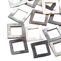 ARRICRAFT 50 pcs Square Natural Black Lip Shell Beads for Earring Bracelet Necklace Jewelry Making