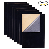 "BENECREAT 20PCS Velvet (Black) Fabric Sticky Back Adhesive Back Sheets, A4 sheet (8.27"" x 11.69""), Self-Adhesive, Durable and Water Resistant, Multi-purpose, Ideal for Art and Craft Making"