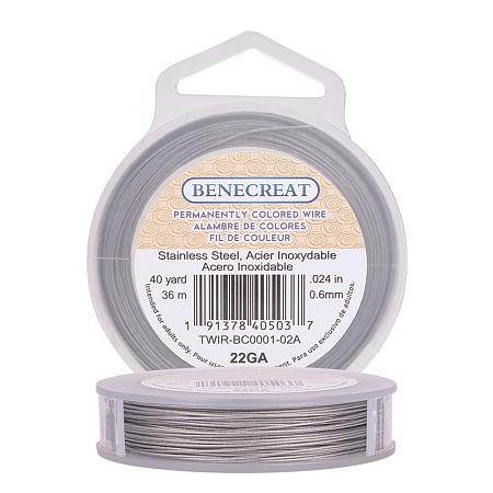 BENECREAT 120-Feet 0.024inch (0.6mm) 7-Strand Bead String Wire Nylon Coated Stainless Steel Wire for Necklace Bracelet Beading Craft Work