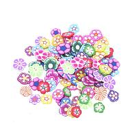 ARRICRAFT 2000pcs Flower Shape Handmade Polymer Clay Slices Without Hole for Nail Art Decoration Slime DIY Crafts, Colorful